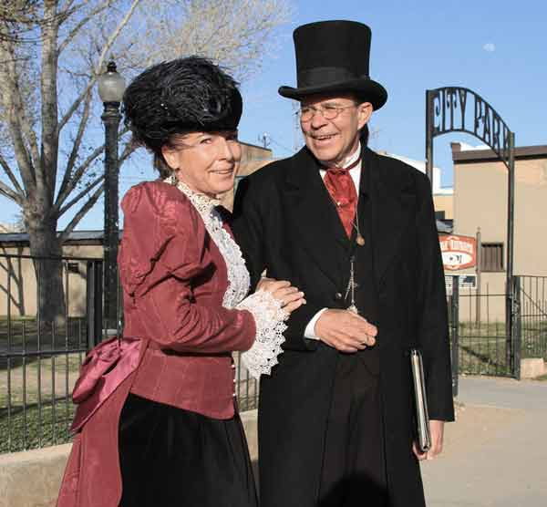 Dr. Jay and Linda will give you an awesome Tombstone Wedding