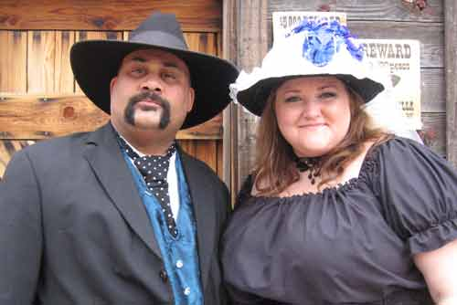 We got married in Tombstone Arizona