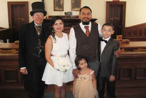 Hector and Melissa got married in Tombstone
